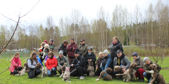 Koirasafarin osallistujia